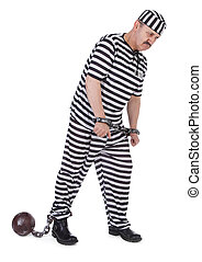 prisonnier, handcuffed