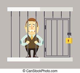prisonnier, homme affaires