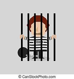 prisonnier, jail.