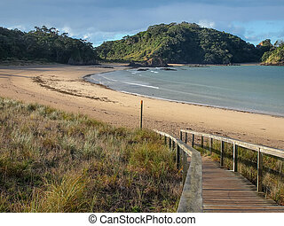 Pristine Beach at Matapouri Bay, New Zealand - Inviting...