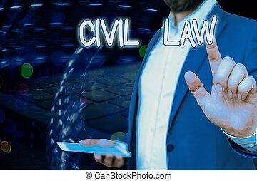 privé, civil, écriture, entre, projection, droit & loi, intéressé, membres, showcasing, conceptuel, community., main, photo, law., relations, business