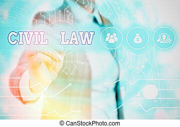 privé, concept, civil, écriture, entre, droit & loi, texte, intéressé, membres, community., law., mot, relations, business