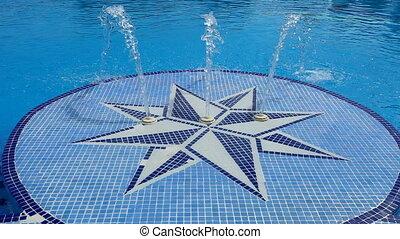 privé, luxe, piscine, natation