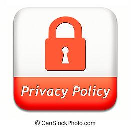 privacidade, política