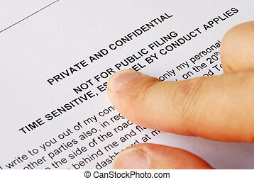 Privacy and confidential issues - Pointing to the privacy...