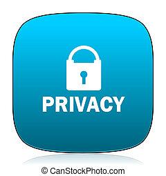 privacy blue icon