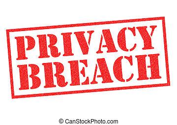 PRIVACY BREACH Rubber Stamp - PRIVACY BREACH red Rubber...