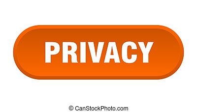 privacy button. rounded sign on white background - privacy ...