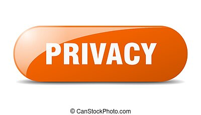 privacy button. sticker. banner. rounded glass sign - ...