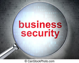 Privacy concept: Business Security with optical glass