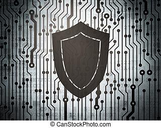 Privacy concept: circuit board with Shield