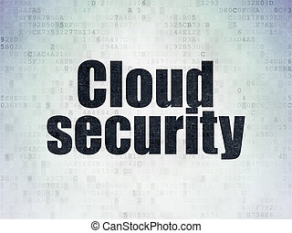 Privacy concept: Cloud Security on Digital Data Paper background
