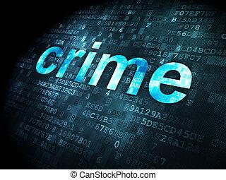 Privacy concept: Crime on digital background