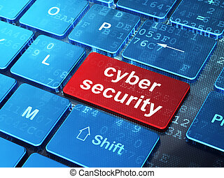 Privacy concept: Cyber Security on computer keyboard...