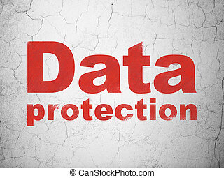 Privacy concept: Data Protection on wall background