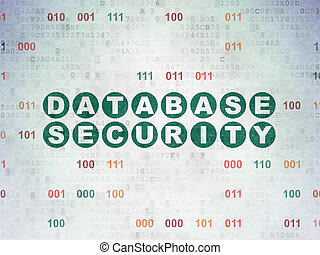 Privacy concept: Database Security on Digital Paper background