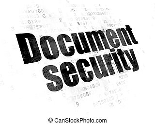 Privacy concept: Document Security on Digital background