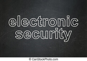 Privacy concept: Electronic Security on chalkboard background