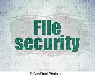 Privacy concept: File Security on Digital Data Paper background