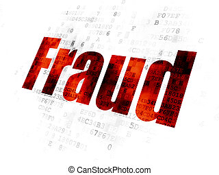 Privacy concept: Fraud on Digital background