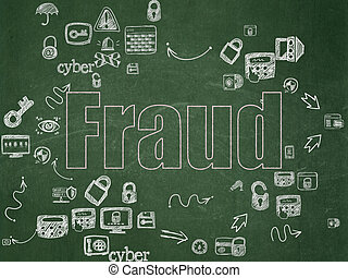 Privacy concept: Fraud on School Board background