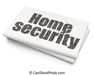 Privacy concept: Home Security on Blank Newspaper background