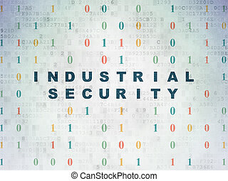 Privacy concept: Industrial Security on Digital Paper background
