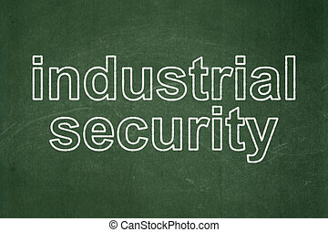 Privacy concept: Industrial Security on chalkboard background