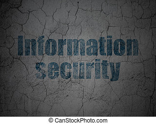 Privacy concept: Information Security on grunge wall background