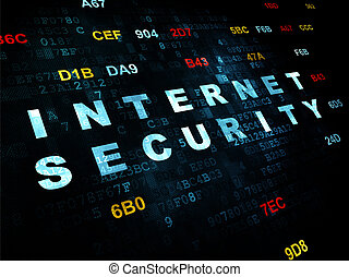Privacy concept: Internet Security on Digital background