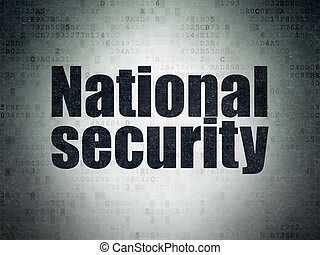 Privacy concept: National Security on Digital Data Paper background