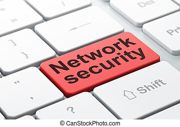 Privacy concept: Network Security on computer keyboard background