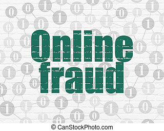 Privacy concept: Online Fraud on wall background