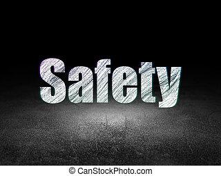 Privacy concept: Safety in grunge dark room