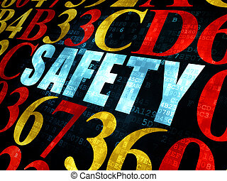 Privacy concept: Safety on Digital background