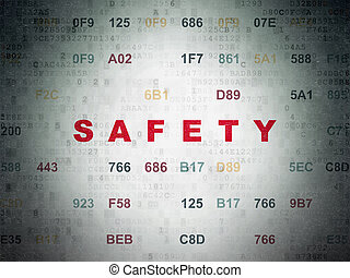 Privacy concept: Safety on Digital Data Paper background