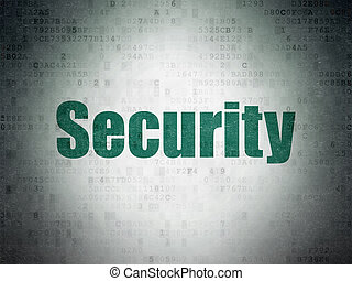 Privacy concept: Security on Digital Data Paper background