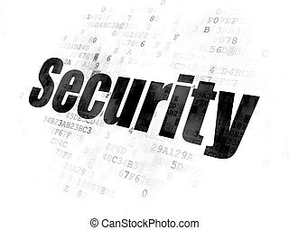 Privacy concept: Security on Digital background