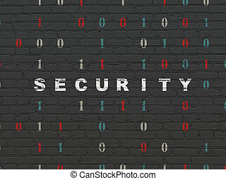 Privacy concept: Security on wall background