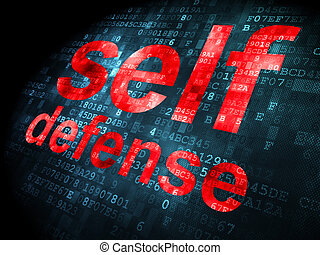 Privacy concept: Self Defense on digital background - ...