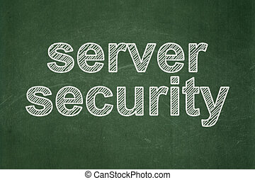 Privacy concept: Server Security on chalkboard background