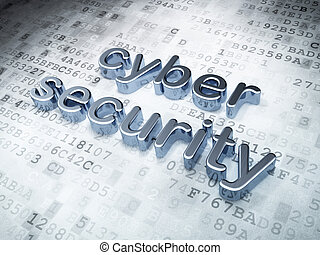 Privacy concept: Silver Cyber Security on digital...
