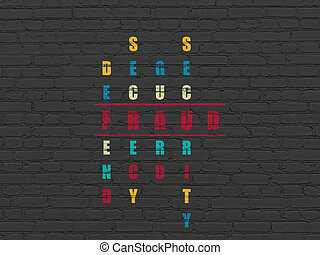 Privacy concept: word Fraud in solving Crossword Puzzle