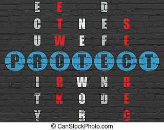 Privacy concept: word Protect in solving Crossword Puzzle