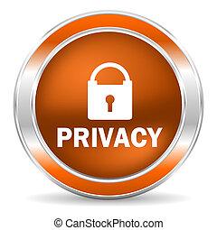 privacy icon - web glossy icon
