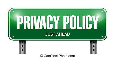 privacy, illustratie, meldingsbord, ontwerp, polis, straat