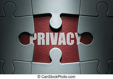 Privacy jigsaw concept