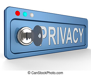 Privacy Lock Shows Protection Of Information 3d Illustration