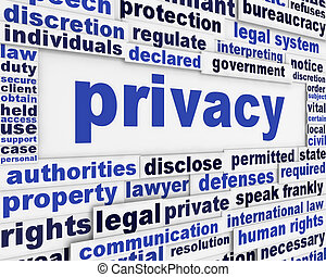 Privacy message background design
