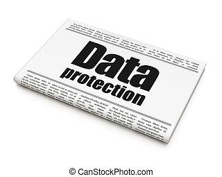 Privacy news concept: newspaper headline Data Protection